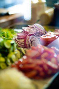 מיט סטופ - ירקות להמבורגר